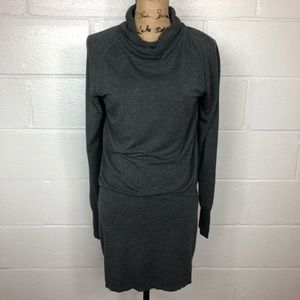 Athleta Cowl Neck Sweater Dress Long Sleeve Gray S